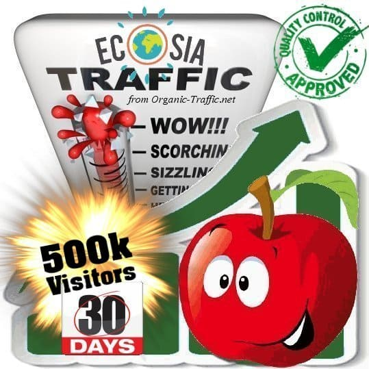buy 500.000 ecosia search traffic visitors in 30days