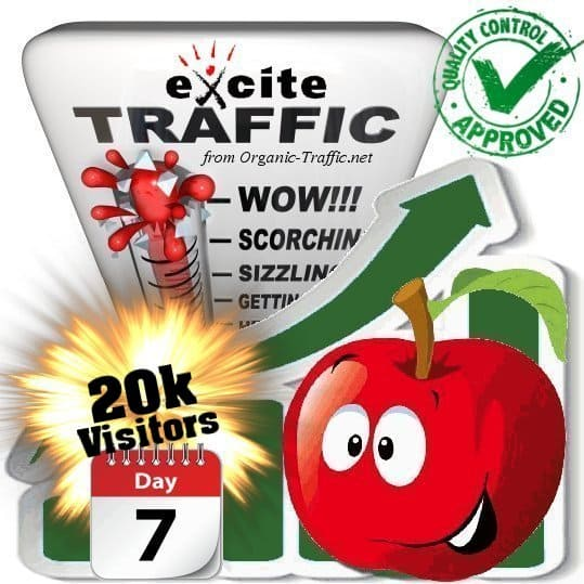 buy 20.000 exite search traffic visitors in 7 days