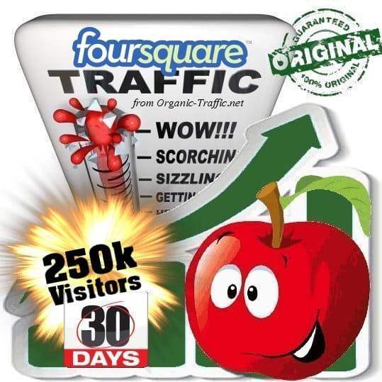 buy 250.000 foursquare social traffic visitors 30 days