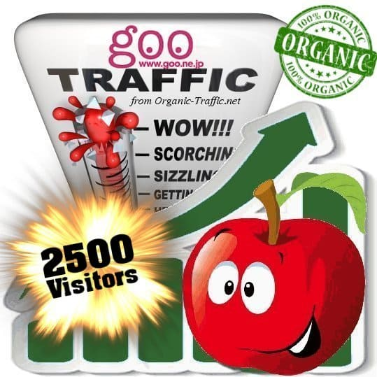 2500 goo organic traffic visitors