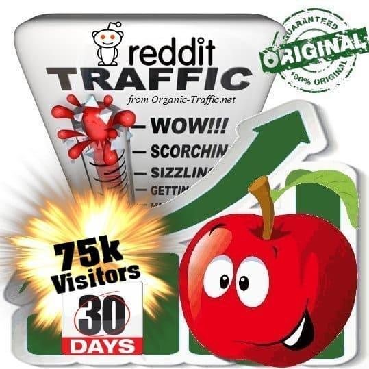 buy 75k reddit social traffic visitors 30 days