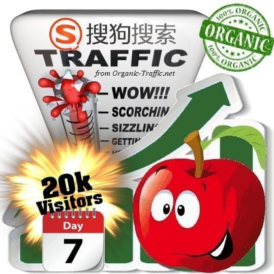 sogou organic traffic visitors 7days 20k