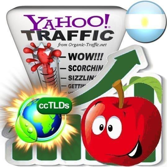 buy yahoo argentina organic traffic visitors