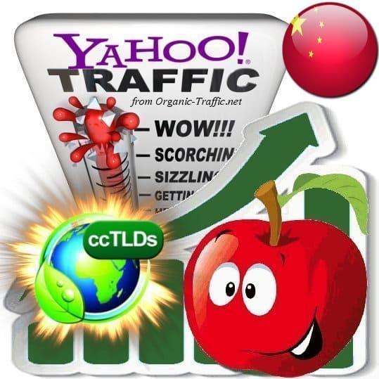 buy yahoo china organic traffic visitors