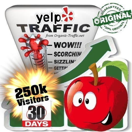 buy 250k yelp social traffic visitors in 30 days