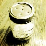 jar scented essential oils and baking soda