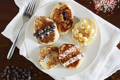 Easter eggs pancake