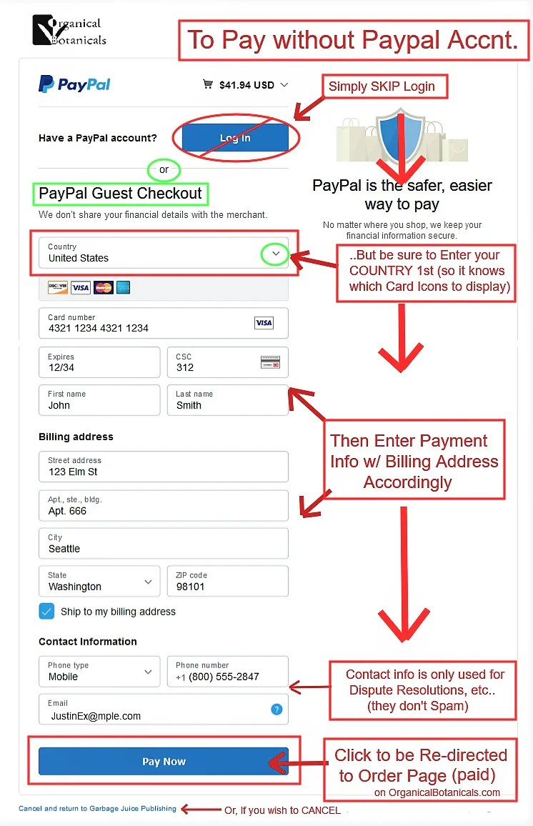 How to Pay with Credit Debit Card only