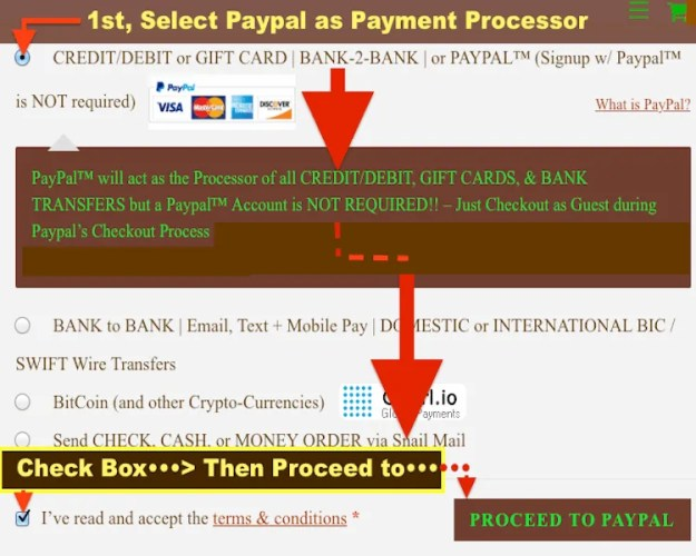 Paypal CC Card Payment LAUNCH PAGE