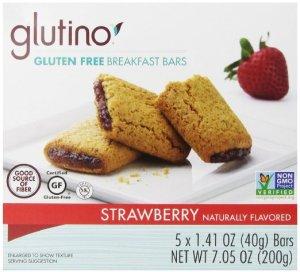 strawberry gluten free snack bars