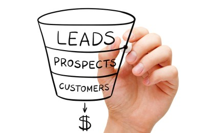 An image showing a traditional sales funnel.