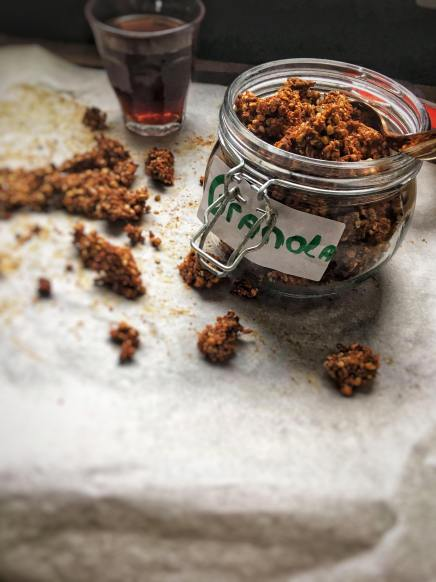 Koffie granola met havermout - Coffee granola with cacao 4 final