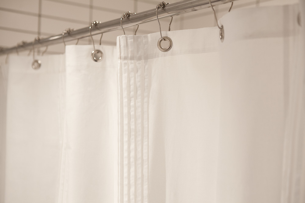 Natural Bathroom Organic Cotton Voile Shower Curtain