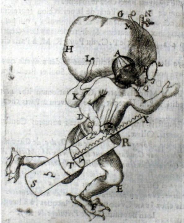 서신공화국에서 주고 받은 편지 내용을 엮은 정기간행물들이 발행되기 시작했다. Le journal des Scavans은 서신공화국 최초의 정기간행물로 전해진다. 그림은 세계 최초의 잠수 기계를 소개하고 있다. (출처: http://bibliophilie.blogspot.kr/2008/06/deux-journaux-du-17me-le-journal-des.html)