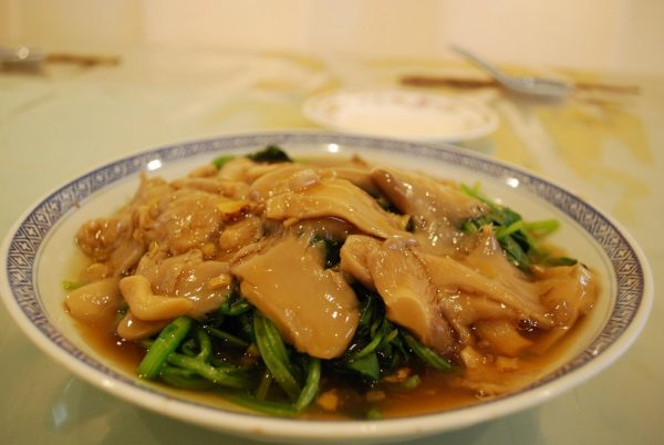 Hongos ostra estilo asiático