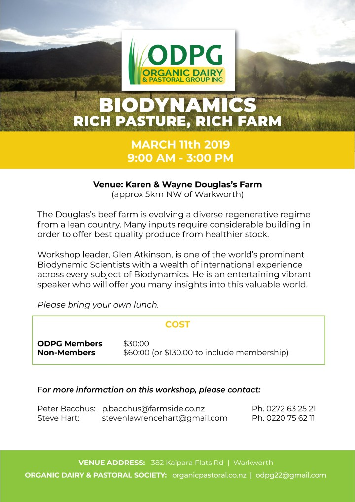 Biodynamics workshop Flyer