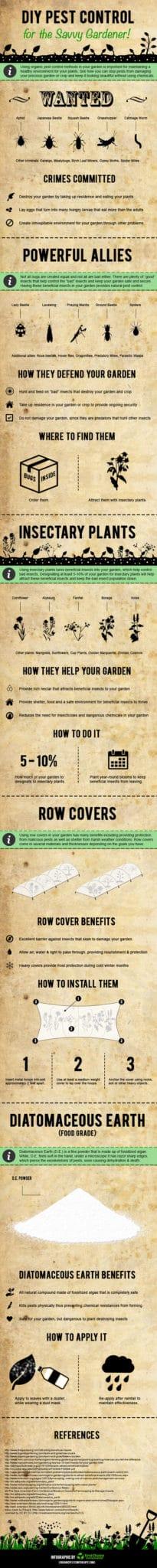 DIY Garden Pest Control Infographic