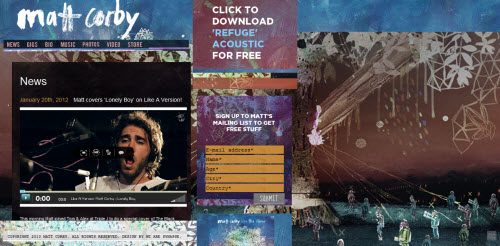 Matt Corby uses WordPress