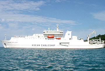 The ASEAN Explorer ship is used to repair under-sea data cables