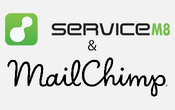 MailChimp and ServiceM8 logos