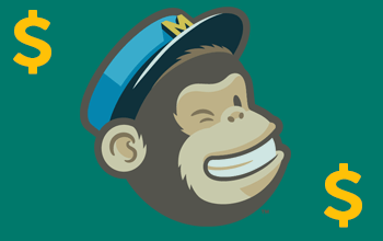 Freddie, the Mailchimp monkey, with dollar signs