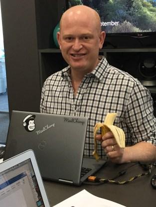 Gary delivering a Mailchimp class, Melbourne 2018