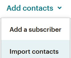 Add Mailchimp subscribers