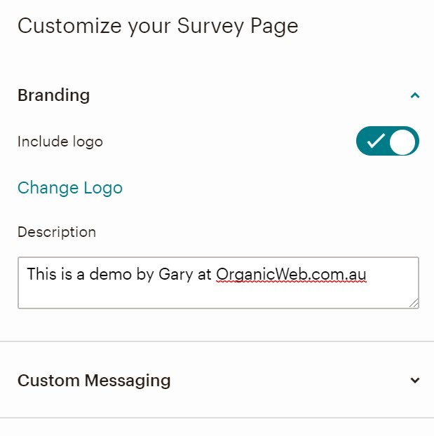 Customize your Mailchimp Survey page