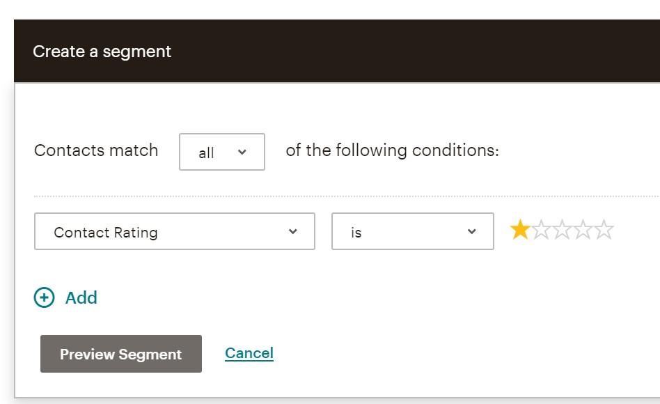 Create a Mailchimp segment