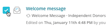Mailchimp email campaign showing checkbox