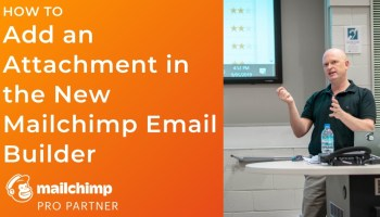 How to add an attachment in the new Mailchimp email builder