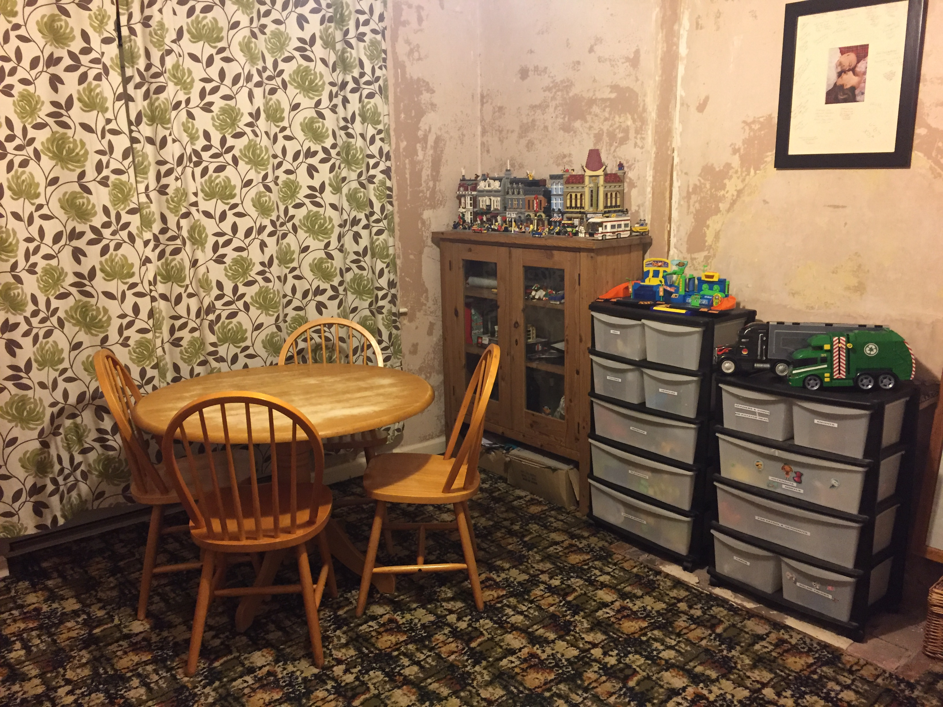 Playroom After, organised toys and crafts