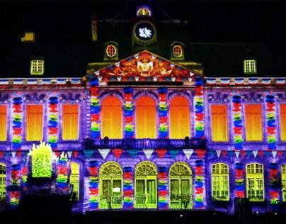 Les Couleurs de la Nuit son et lumière anime vos spectacles son et lumière, événementiels et mapping vidéo