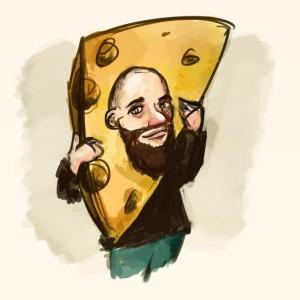 Skäggig man i ost