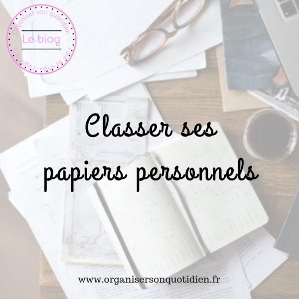 Classer ses papiers personnels