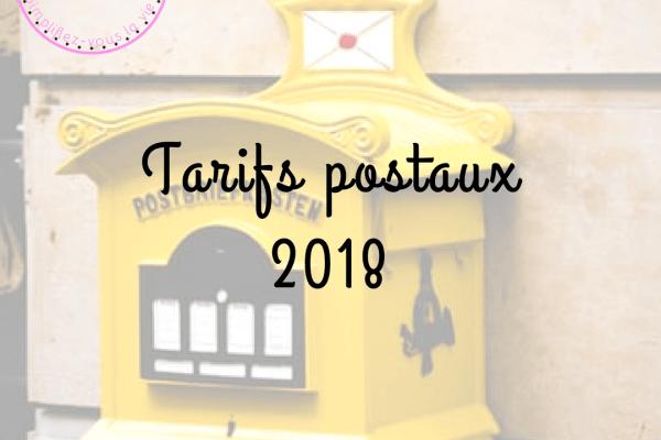 Tarifs postaux 2018