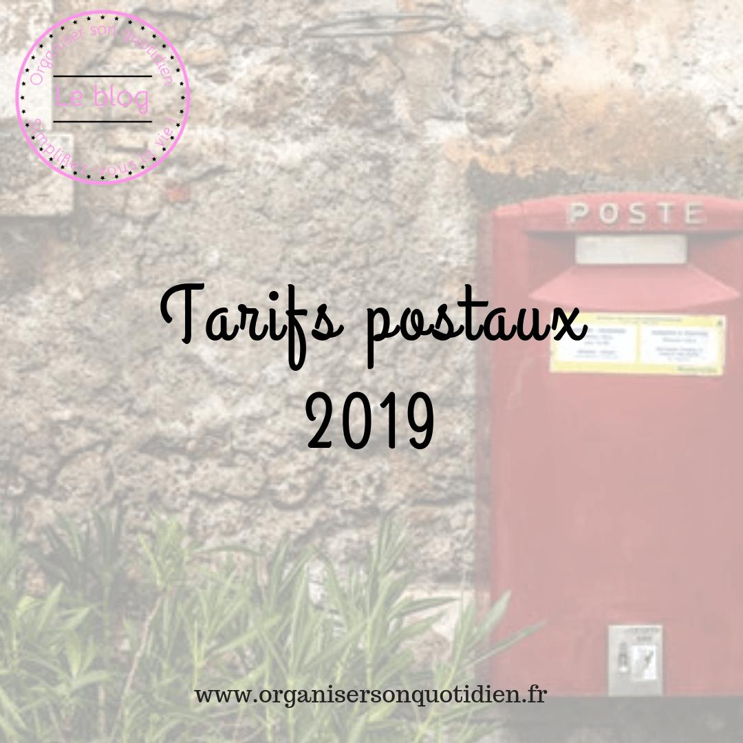 Tarifs postaux 2019