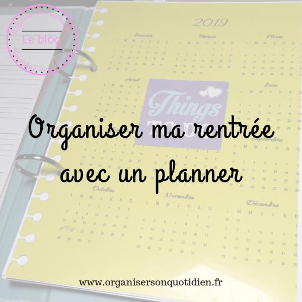 Organiser la rentrée avec un planner