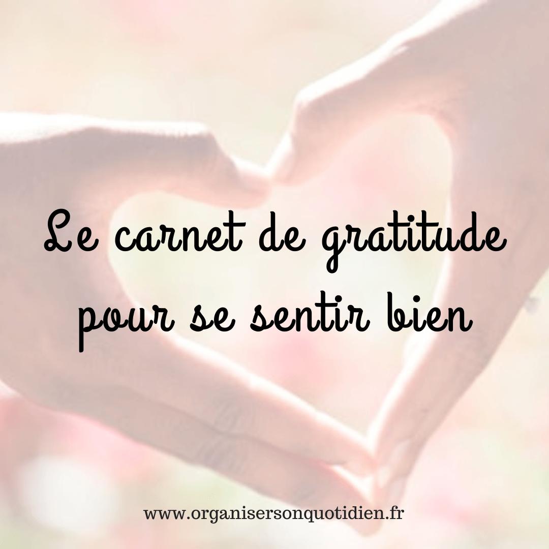 Créer un carnet de gratitude