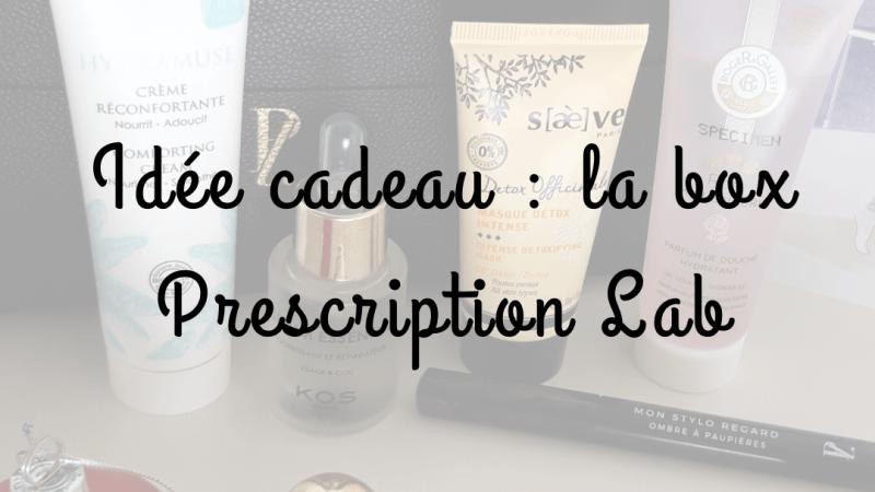 Idée cadeau : la box Prescription Lab