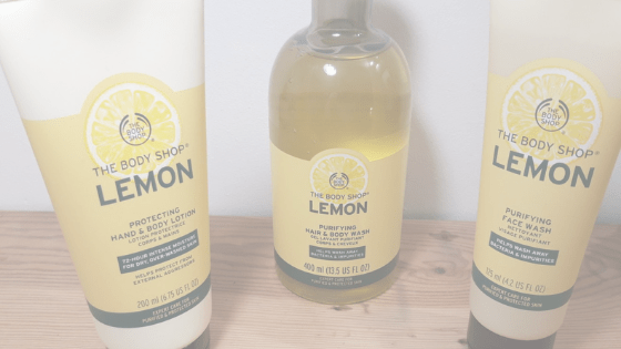 Routine beauté au citron par The Body Shop