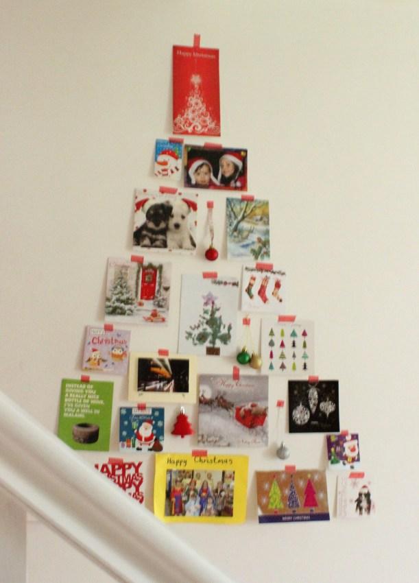 Christmas tree with Christmas cards