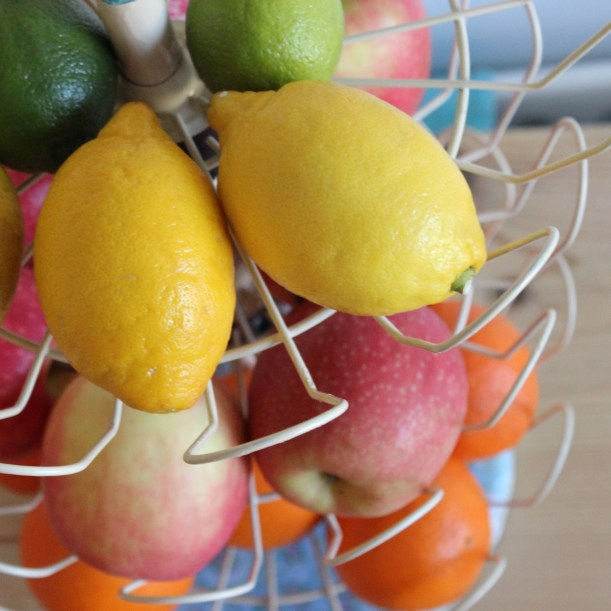 Up-cycled Tiered Fruit bowl