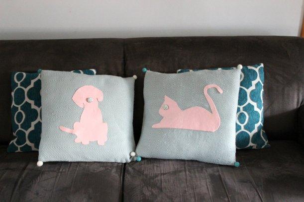 DIY silhouette cushions - OrganisingChaosBlog