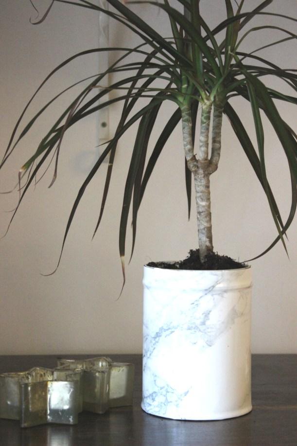 OrganisingChaosBlog - Make a marble flower pot 3