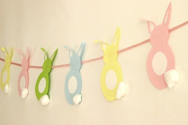 OrganisingChaosBlog - How to make a cute Easter Bunny Garland