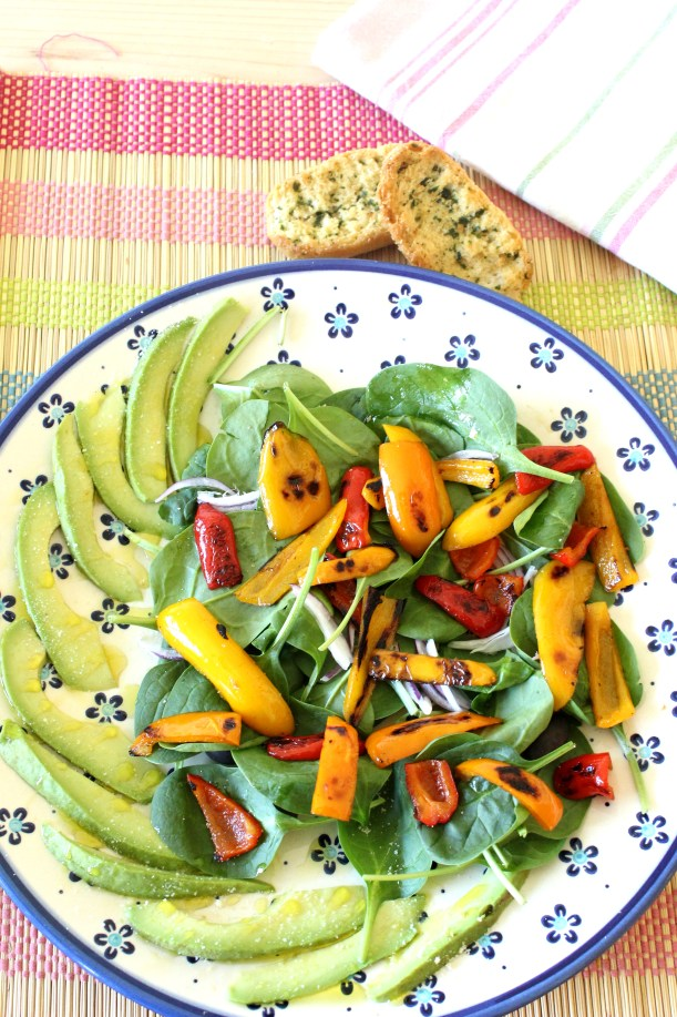 OrganisingChaosBlog - Sweet Pepper and Spinach warm salad