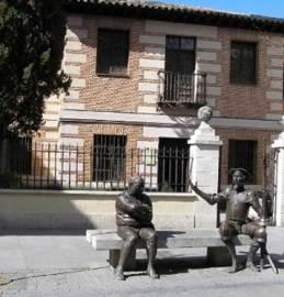 Don Quijote y Sancho en la Casa de Cervantes