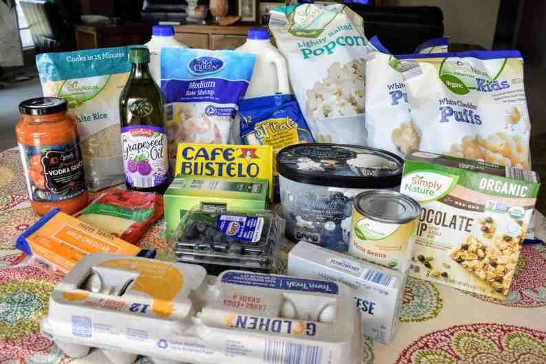 grocery haul from Aldi   Meal Plan   Grocery Shopping on a Budget   Grocery Shopping for Family of Four