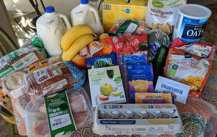 Grocery Haul and Meal Plan for a family of four. #budget #mealplan